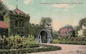 DETROIT , Michigan, PU-1914 ; Entrance to Woodmere Cemetery