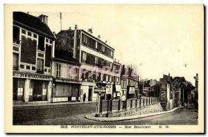 Old Postcard Fontenay aux Roses Street Boucicaut