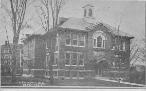 H41/ DeRuyter New York Postcard c1910 High School Building