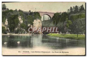 Old Postcard Paris Buttes Chaumont The Brick Bridge