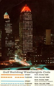 Pennsylvania Pittsburgh The Gulf Building At Night