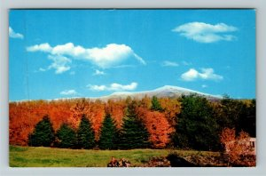 Mt. Mansfield VT- Vermont, Early Snow, Mountains, Chrome Postcard