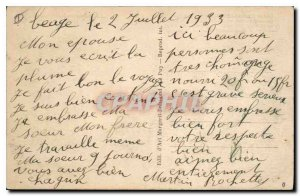 Postcard The Old Htes Cavennes Lake Issarles illustrated Curious rock falling...