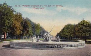 Nebraska Lincoln Thompson Fountain At 11th And J Streets