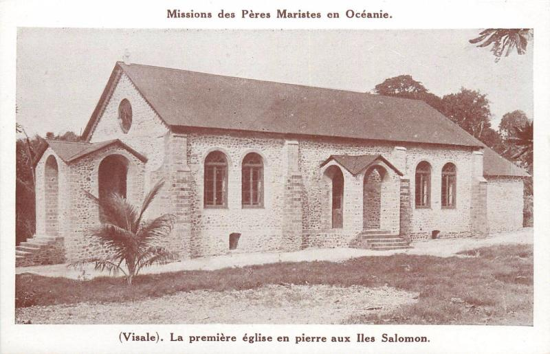 South Pacific Solomon Islands Visale church Peres Maristes missions Oceania
