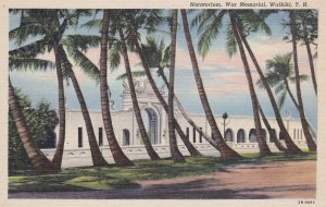 WAIKIKI, Oahu, Hawaii, 1930-40s; Natatorium, War Memorial