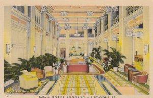 ALEXANDRIA , Louisiana , 1930-40s ; lobby-HOTEL BENTLEY