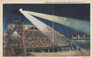 ATLANTIC CITY , New Jersey , 30-40s; Acrobats, on End of Steel Pier
