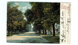 East Side Street Scene Franklin Park Bloomington Illinois 1907 postcard