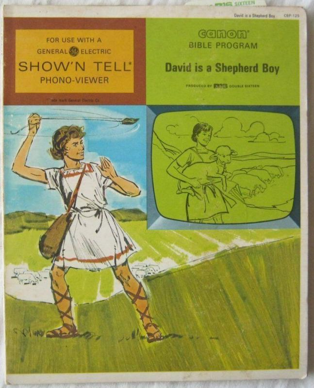 Vintage David Is A Shepherd Boy Canon Bible Program For GE Show N Tell 1966