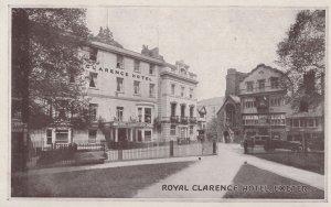 Royal Clarence Hotel Exeter Devon Old Postcard