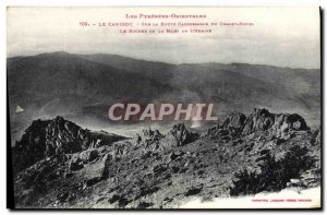 Old Postcard Canigou On The Road passable Du Chalet Hotel The rock of the dea...