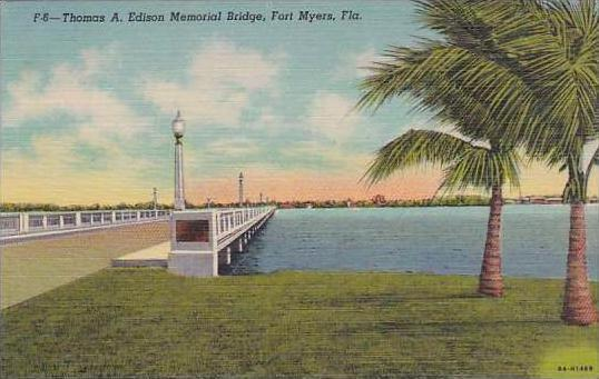 Florida Fort Myers Thomas A Edison Memorial Bridge