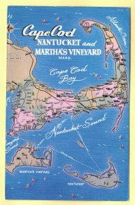 MAP OF BOSTON,SOUTH SHORE,PLYMOUTH AND CAPE COD, MASSACHISETTS   SEE SCAN  145