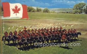 Black Watch, Royal Canadian Mounted Police, Old Vintage Antique Postcard Post...
