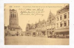 Grand'Place, Cote Sud Et La Tour De l'Eglise Saint-Nicolas, Furnes (West Flan...