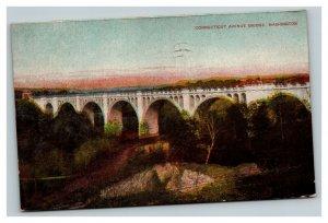 Vintage 1910 Postcard Panoramic View The Connecticut Avenue Bridge Washington DC