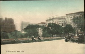 New York City Battery Park NICE COLOR c1910 Postcard HAGEMEISTER