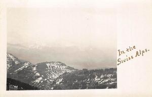 Switzerland In The Swiss Alps Panoramic View Real Photo RPPC Postcard