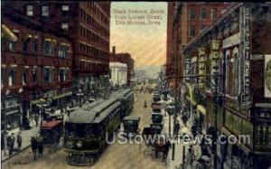 Sixth Avenue & Locust Street Des Moines IA 1914