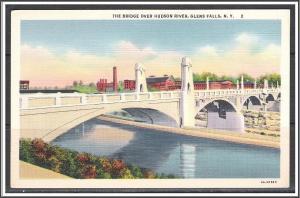 New York, Glens Falls The Bridge Over Hudson River