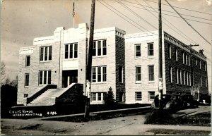Vtg Postcard RPPC 1940s -Big Horn County Court House Hardin Montana MT UNP