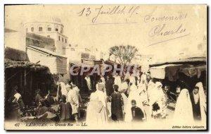 Old Postcard Kairouan Grande Rue