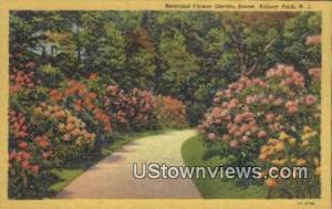 Garden Scene Asbury Park NJ Unused