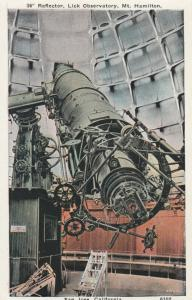SAN JOSE , California, 1910s-30s ; Reflector , Lick Observatory, Mt Hamilton