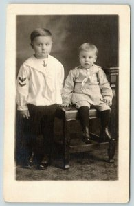 RPPC Hi! I'm in the Navy!~My Little Brother Wants to Be A Railroad Engineer~1916