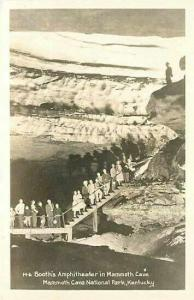 KY, Mammoth Cave National Park,Kentucky, Booth's Amphitheatre, RPPC, No. M-6