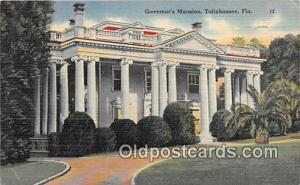 Governor's Mansion Tallahassee, FL, USA Postcards Post Cards Old Vintage Anti...