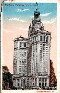 MUNICIPAL BUILDING 1 Centre Street Manhattan New York City Postcard NY