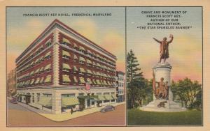 FREDERICK, Maryland, 30-40s; Francis Scott Key Hotel, Grave & Monument for Key