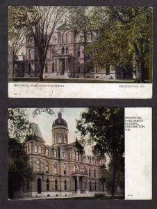 NB Lot 2 Parliament Bldg Fredericton New Brunswick Canada Postcard Carte Postale