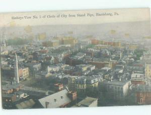 Unused Divided-Back AERIAL VIEW OF TOWN Harrisburg Pennsylvania PA n4022
