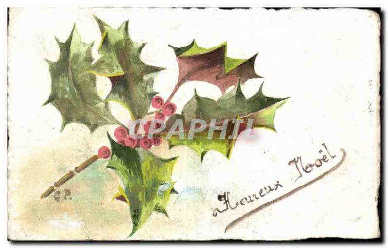 Festivals - Wishes - Happy Christmas - Holly - holly - Old Postcard