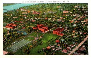 Missouri Boonville Aerial View Kemper Military Academy