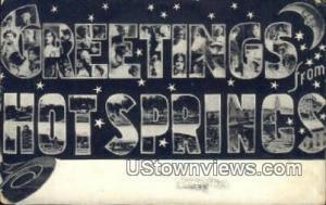 Hot Springs, AR, Post Card    ;    Hot Springs, Arkansas