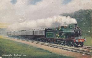 UK Railroad Train ; Manchester Express Near Harrow, 00-10s ; TUCK