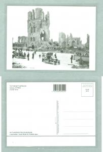 Repro. Card. WWI. The The Battlefields Flandern 1919.