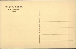 Steamship Co. CYP Fabre SS Alesia Old Postcard