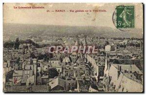 Old Postcard Nancy Lorraine Illustree Vue Generale On The Old City