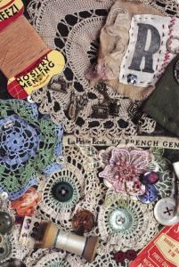 Vintage Sewing Postcard, Renee's Red Vintage Quilts U15