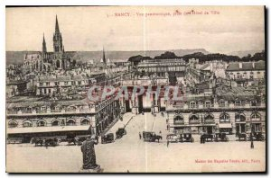 Old Postcard Nancy panoramic view taken from the Hotel de Ville