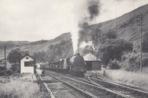 Engine no 45479 Goods Train at Kyle in Garve Railway Postcard