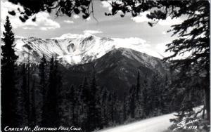 RPPC  BERTHOUD PASS, CO Colorado  CRATER MOUNTAIN View c1950s Sanborn Postcard