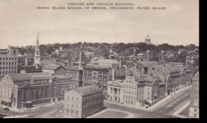 Rhode Island Providence Theatre & College Building Rhode Island School Of Des...