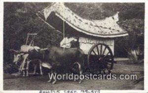 Real Photo Bullock Cart Malaysia Writing On Back