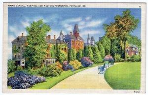 Portland, Me, Maine General Hospital And Western Promenade
